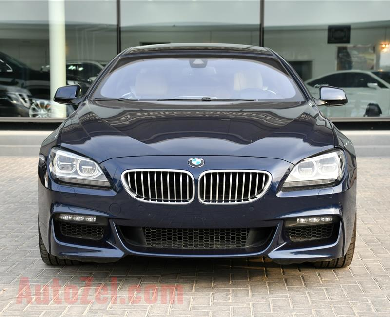 BMW 650i- 2014- BLUE- 174 000 KM- GCC