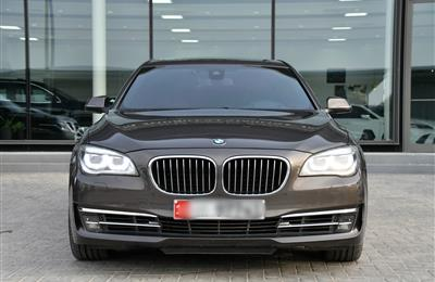 BMW 750Li, V8- 2013- BROWN- 185 000 KM- GCC