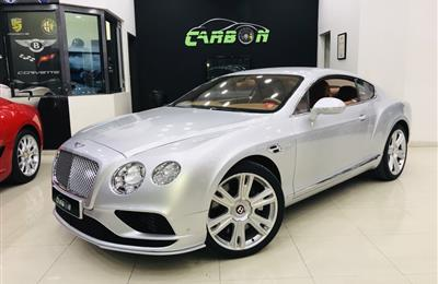 BENTLEY CONTINENTAL GT, V8 - 2016- SILVER- 51 000 KM- GCC