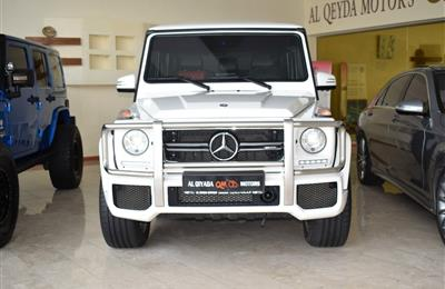 MERCEDES-BENZ G63, V8- 2015- WHITE- 125 000 KM- GCC