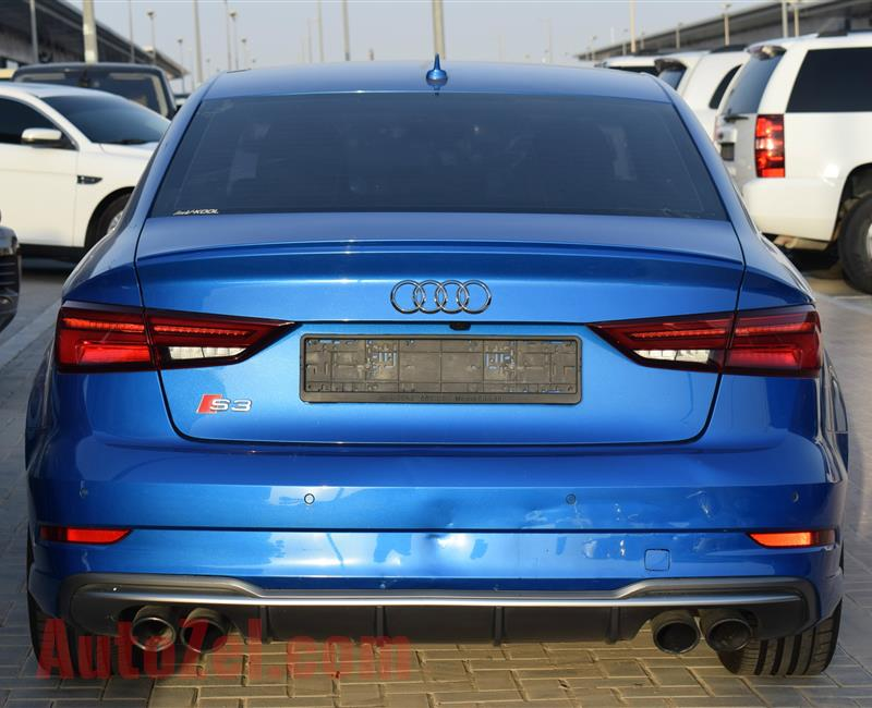 AUDI S3- 2017- BLUE- 72 000 KM- GCC, FULL OPTION