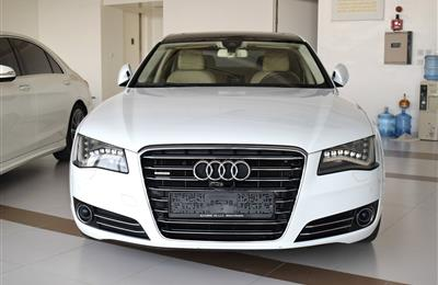 AUDI A8L- 2012- OFF WHITE- 125 000 KM- GCC, FULL OPTION
