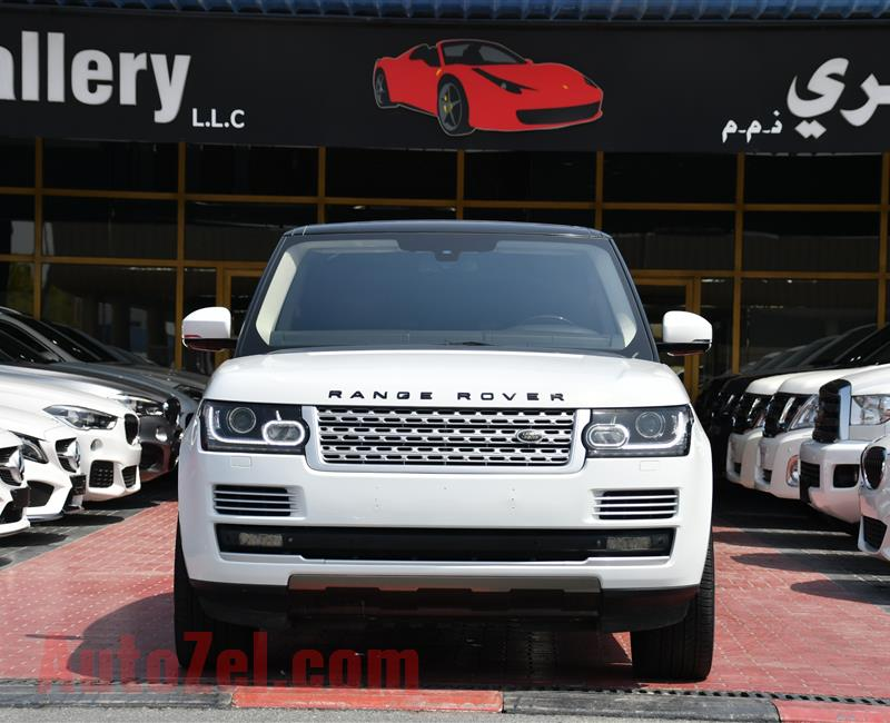 RANGE ROVER VOGUE SUPERCHARGED- 2014- WHITE- 118 000 KM- GCC SPECS