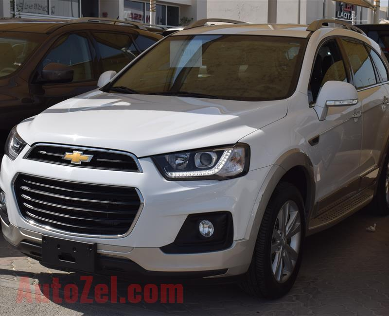 CHEVROLET CAPTIVA- 2016- WHITE- 47 000 KM- GCC SPECS