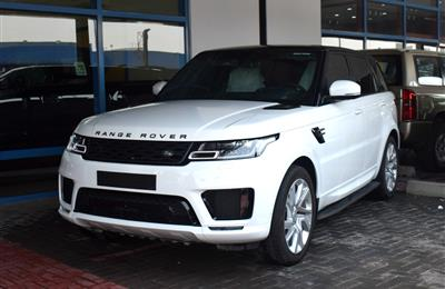 RANGE ROVER SPORT SUPERCHARGED- 2019- WHITE- 7 900 KM- GCC...