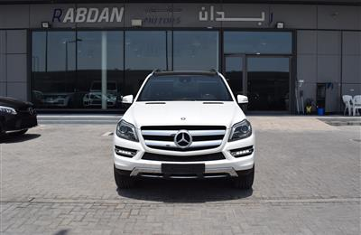 MERCEDES-BENZ GL500- 2014- WHITE- 94 000 KM- GCC