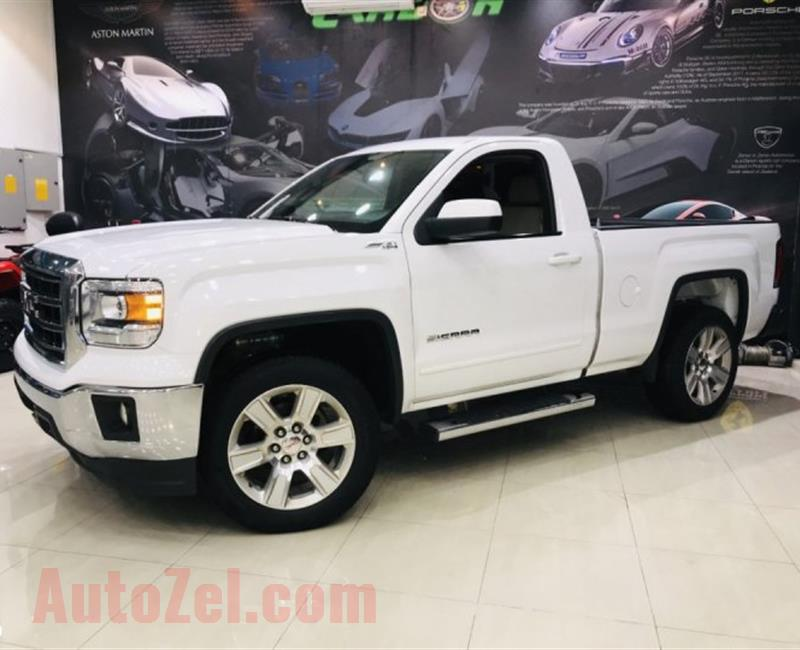GMC Sierra SLE - 2015- WHITE- 129 000 KM - GCC - ONE YEAR WARRANTY- ( 1,200 AED PER MONTH )
