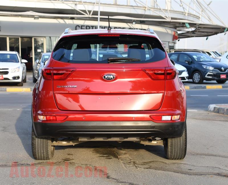 KIA SPORTAGE- 2017- RED- 72 000 KM- GCC