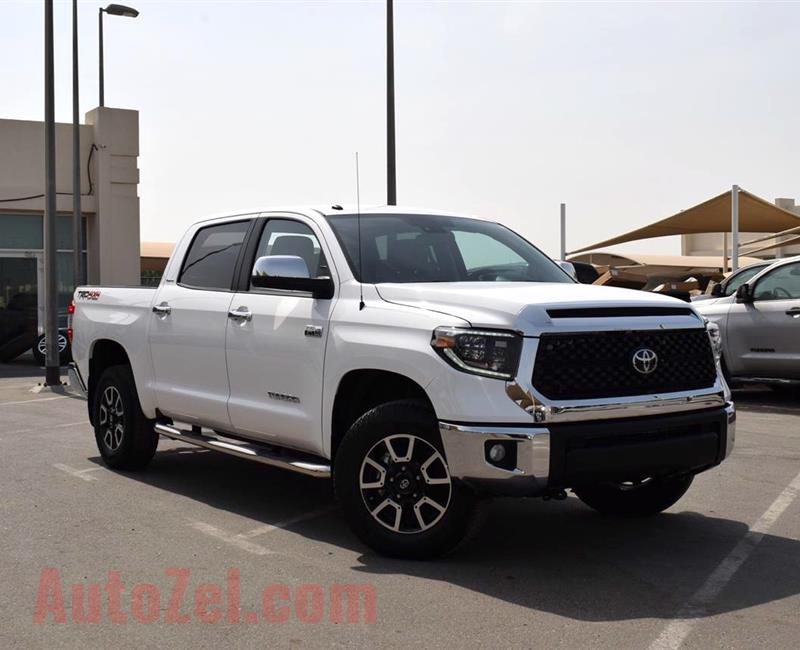 TOYOTA TUNDRA TRD LIMITED- 2019- WHITE- 4 000 MILES- AMERICAN SPECS
