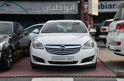 OPEL INSIGNIA TURBO- 2014- WHITE- 59 000 KM- GCC