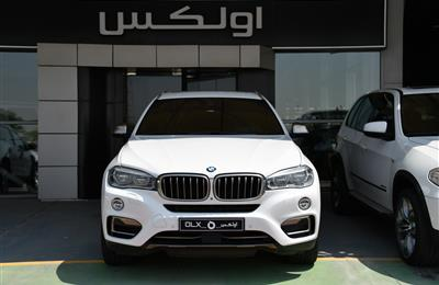 BMW X6- 2015- WHITE- 99 000 KM- GCC