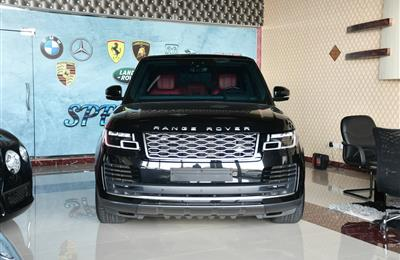 RANGE ROVER VOGUE SE- 2018- BLACK- 40 000 KM- GCC