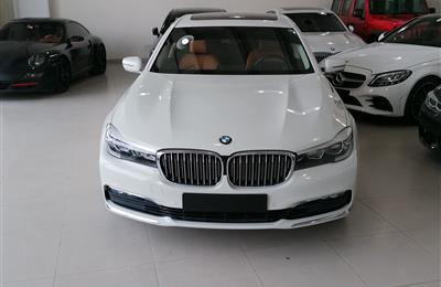 BMW 730LI- 2016- WHITE- 65 000 KM- GCC