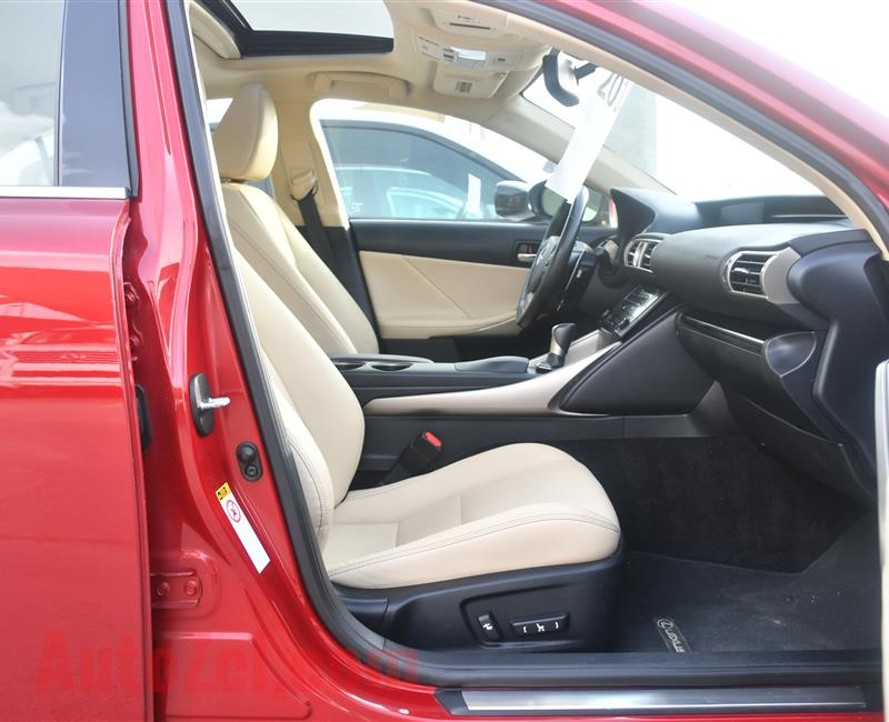 LEXUS IS250 MODEL 2014 - RED - 47,000 MILEAGE - V4 - CAR SPECS IS AMERICAN