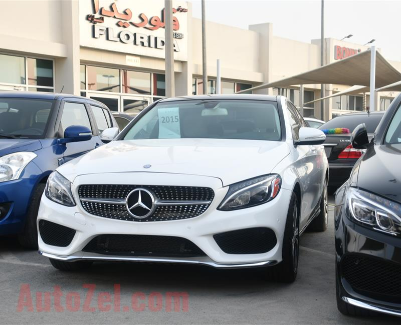 MERCEDES BENZ C300 MODEL 2015 - WHITE - 20,000 MILEAGE - V4 - CAR SPECS IS AMERICAN