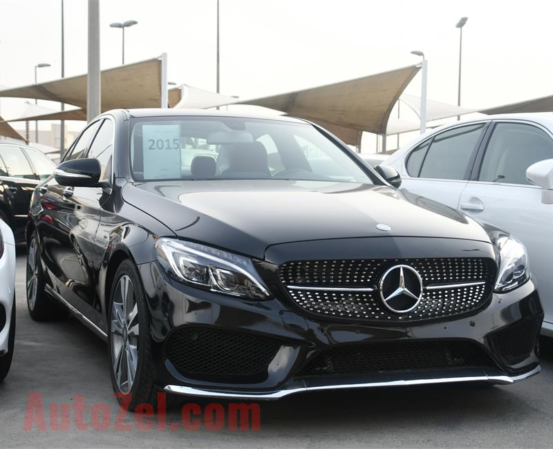 MERCEDES BENZ C300 MODEL 2015 - BLACK - 30000 MILEAGE - V4 - CAR SEPCS IS AMERICAN