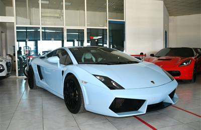 LAMBORGHINI- 2010- SKYBLUE- 54 000 KM- GCC SPECS- MANUAL...