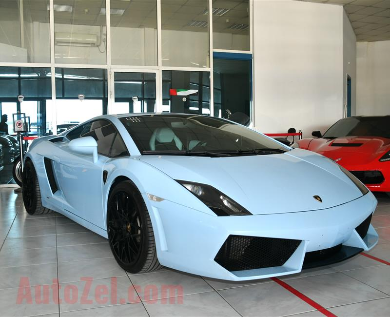 LAMBORGHINI- 2010- SKYBLUE- 54 000 KM- GCC SPECS- MANUAL TRANSMISSION