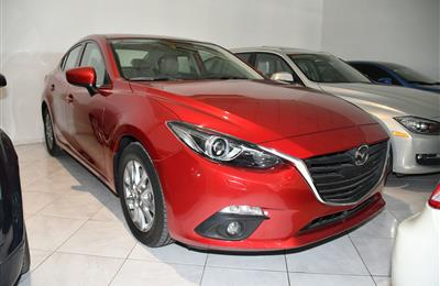 MAZDA 3- 2016- RED- 23 000 KM- GCC SPECS