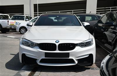 BMW M4- 2016- WHITE- 17 000 KM- GCC SPECS