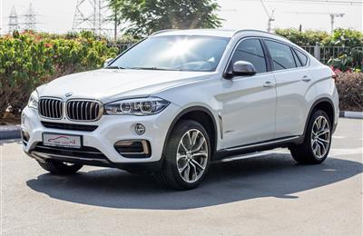 BMW X6- 2016- WHITE- 96 000 KM- GCC SPECS- 1YR WARRANTY