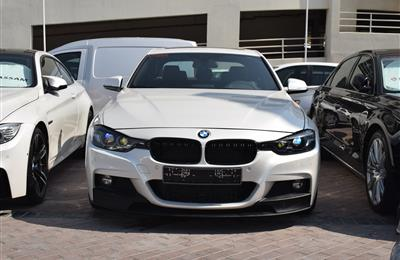 BMW 330i- 2017- WHITE- 27 000 KM- GCC SPECS