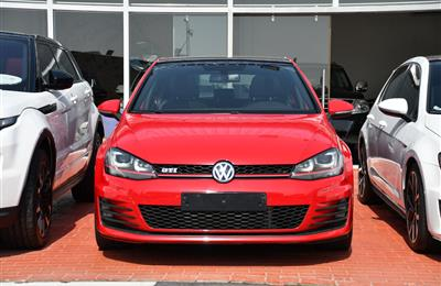 VOLKSWAGEN GOLF GTI- 2015- RED- 80 000 KM- GCC SPECS- CALL...