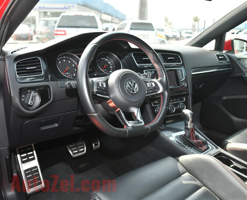 VOLKSWAGEN GOLF GTI- 2015- RED- 80 000 KM- GCC SPECS- CALL FOR THE PRICE