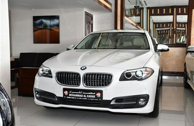 BMW 520i- 2016- WHITE- 116 000 KM- GCC SPECS