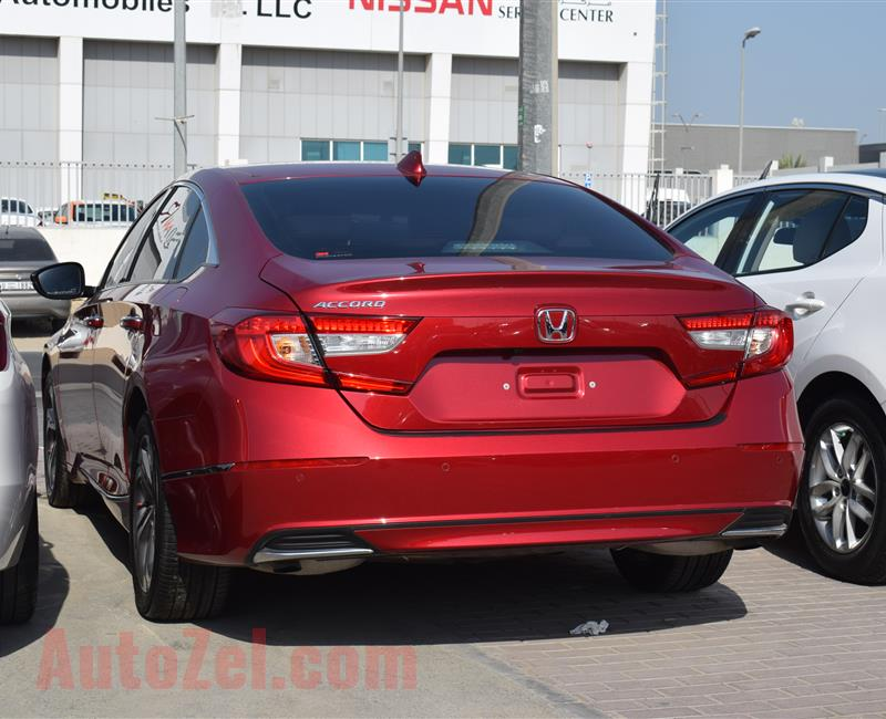 HONDA ACCORD- 2018- RED- 37 000 KM- GCC SPECS