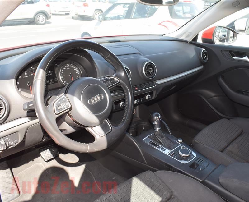 AUDI A3- 2015- RED- GCC SPECS- CALL FOR DETAILS