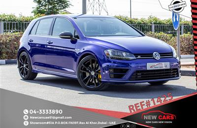 VOLKSWAGEN GOLF R- 2016- BLUE- 81 664 KM- MANUAL- GCC...