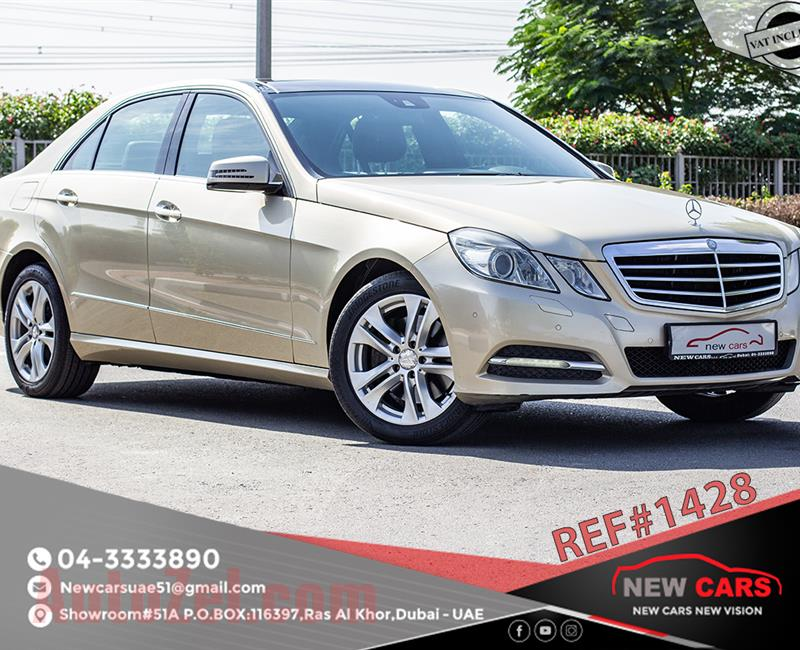 MERCEDES-BENZ E350- 2011- GOLD- 210 506 KM- GCC SPECS