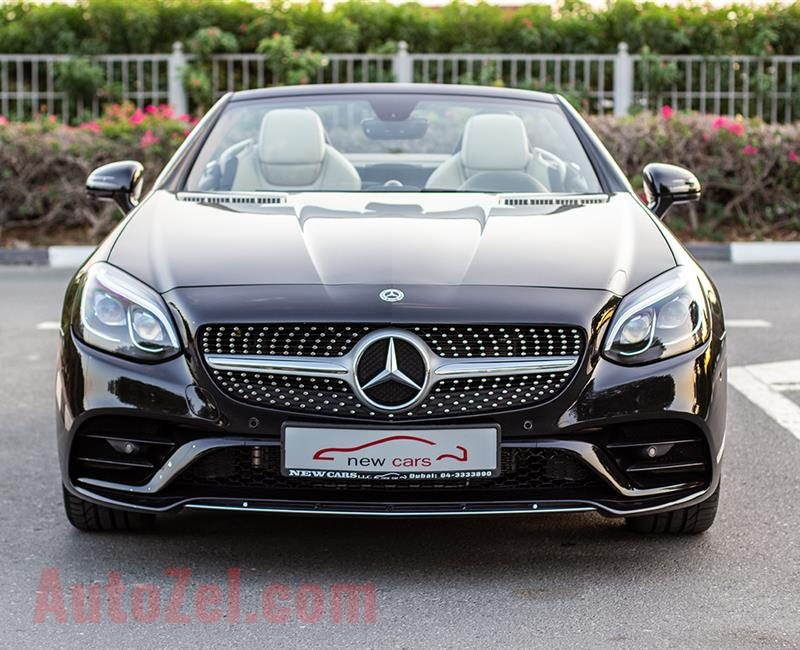 MERCEDES-BENZ SLC200- 2018- BLACK- 15 644 KM- GCC SPECS