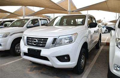 NISSAN NAVARA- 2017- WHITE- 50 000 KM- GCC, MANUAL GEAR