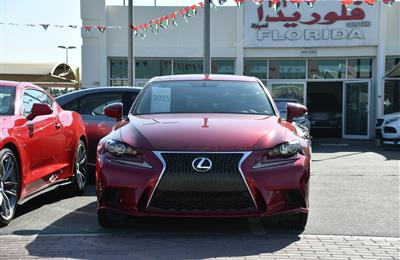 LEXUS IS250 F-SPORT- 2015- RED- 45 000 MILES- AMERICAN...