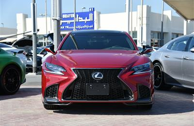 LEXUS LS500- 2019- RED- 1 400 KM- GCC SPECS