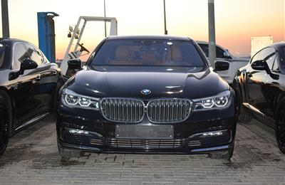 BMW 730Li- 2017- BLACK- 60 000 KM- GCC