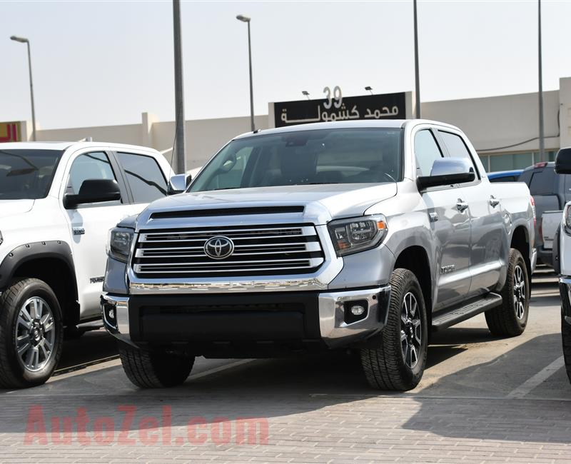 TOYOTA TUNDRA LIMITED- 2018- SILVER- 15 000 MILEAGE- AMERICAN SPECS