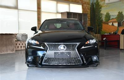 LEXUS IS350- 2015- BLACK- 38 000 KM- GCC SPECS