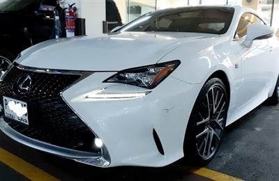 Lexus Rc 3.5 turbo v6 2015 Gcc under warranty till 21  Top...