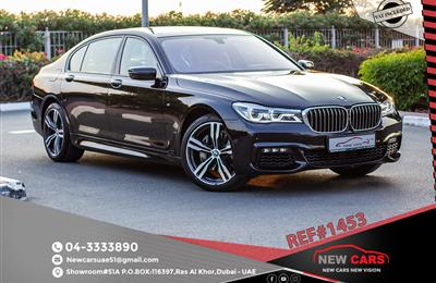 BMW 740Li- 2016- BLACK- 73 840 KM- GCC SPECS