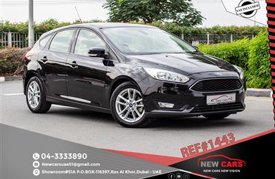 FORD FOCUS- 2015- BLACK- 72 343 KM- GCC SPECS