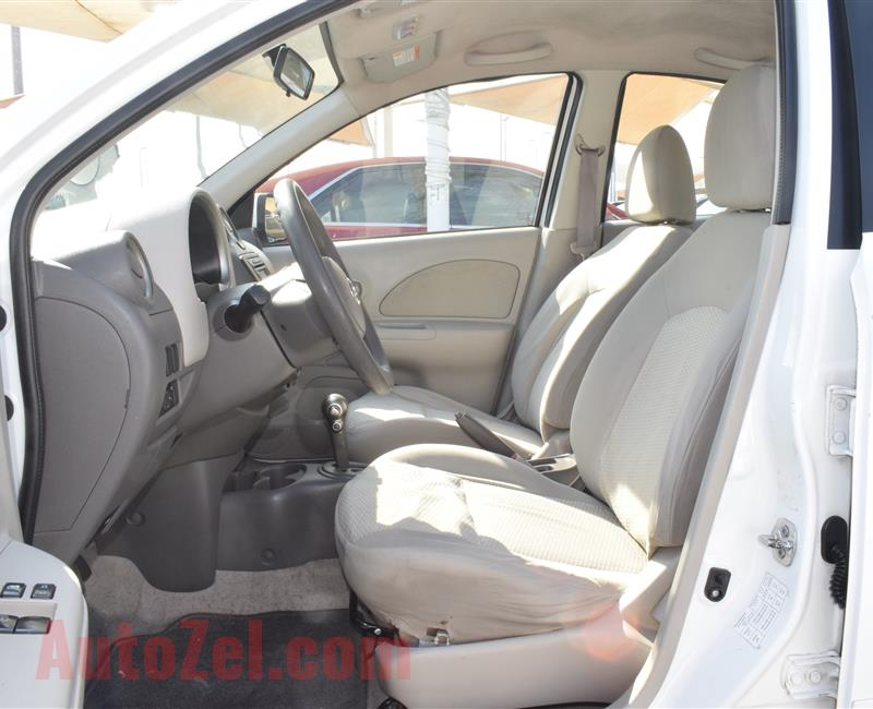 NISSAN MICRA- 2014- WHITE- 344 000 KM- CALL FOR PRICE