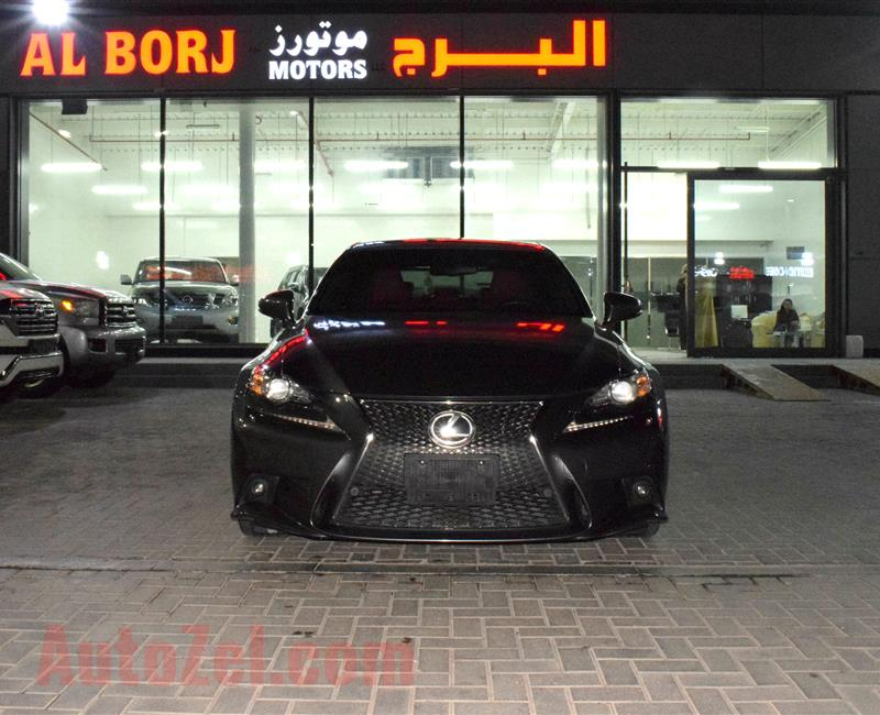 LEXUS IS250- 2015- BLACK- 112 000 KM- GCC