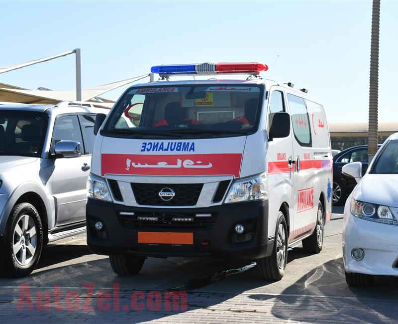 NISSAN NV350 AMBULANCE- 2015- WHITE- 219 000 KM- GCC SPECS