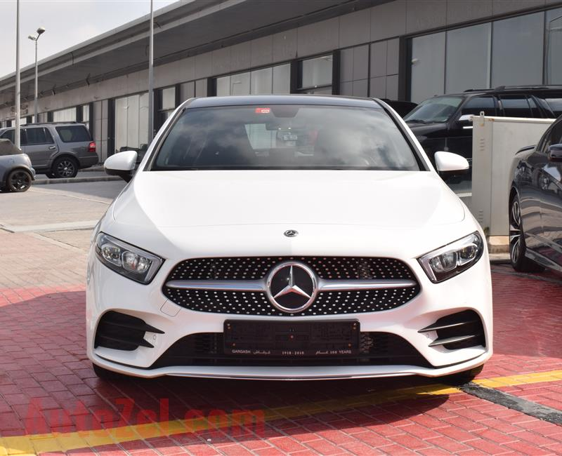 MERCEDES-BENZ A250- 2018- WHITE- 27 000 KM- GCC