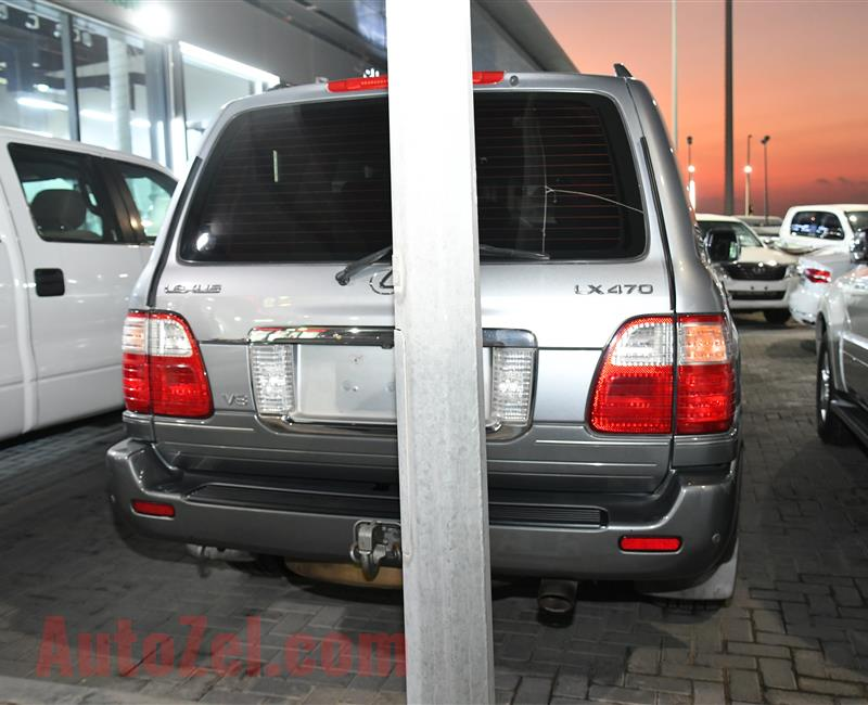 LEXUS LX 470 MODEL 2004 - GREY - V8 - GCC