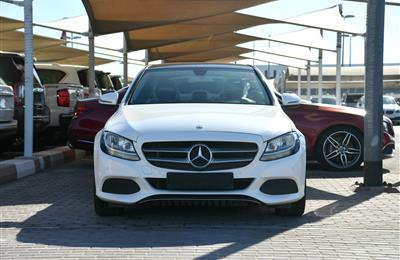 MERCEDES-BENZ C200- 2017- WHITE- 54 000 KM- GCC