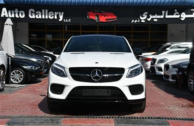 MERCEDES-BENZ GLE43- 2019- WHITE- GCC SPECS- BROWN...
